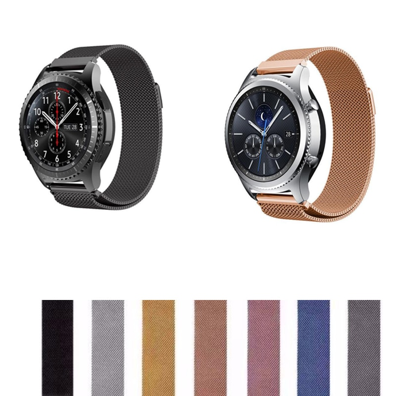 22mm 20mm banda para Samsung galaxy active 2 42 46 S3 s2 pebble time Ticwatch s s2 1 2 E pro c2 amazfit 3 2 1 GTR GTS ritmo Correa bip