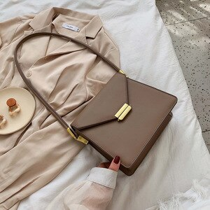 Crossbody Small Black Chic Bag Female 2021 Simple Hard Pu Leather Shoulder Coffee Wine Red Mini Retro Vintage Square Handbag