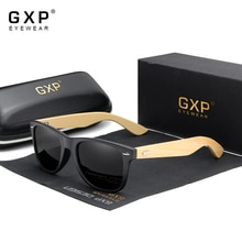 GXP Original Men's Polarized Retro handmade Bamboo Sunglasses Women Wooden Sun glasses Men Brand Woo