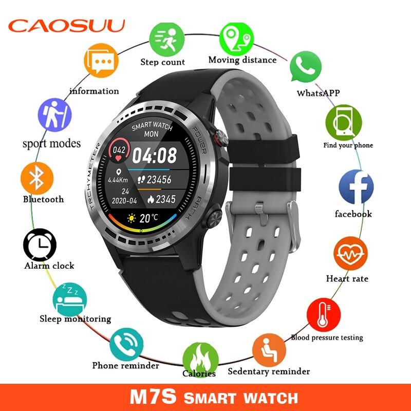 M7S ساعة ذكية للرجال مع بطاقة SIM لتحديد المواقع سترافا مقاوم للماء اللياقة البدنية السيدات ساعة ذكية ل شاومي أندرويد IOS