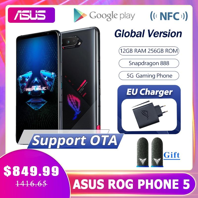 Оригинальное ASUS ROG Phone 5 глобальная версия Snapdragon888 12 Гб Оперативная память 256 ГБ Встроенная память 6000 мА/ч, 65 Вт NFC OTA игровой телефон ROG5 игральн...