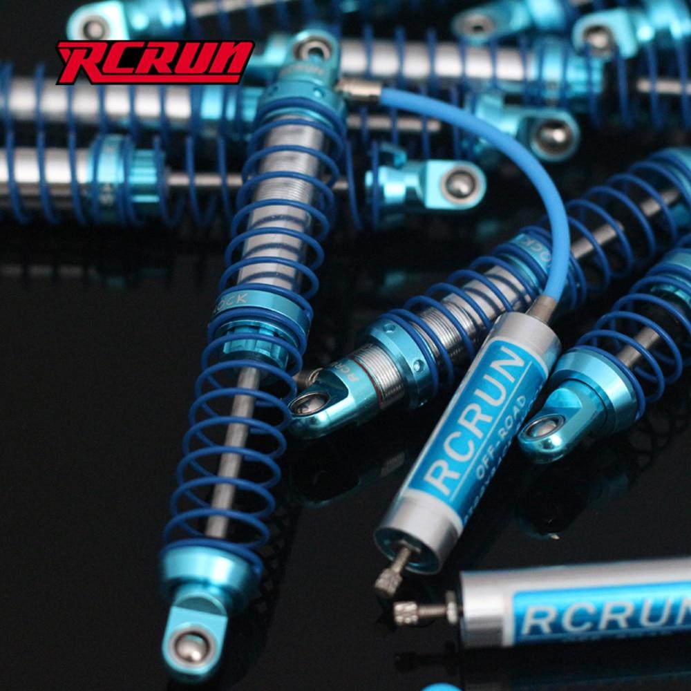 RCRUN-صدمة زيت على الظهر قابلة للتعديل مع خزان بعيد لـ 1/10 RC الزاحف المحوري SCX10 r10 Wraith CAPRA TRX4 TRX6 RGT 86100
