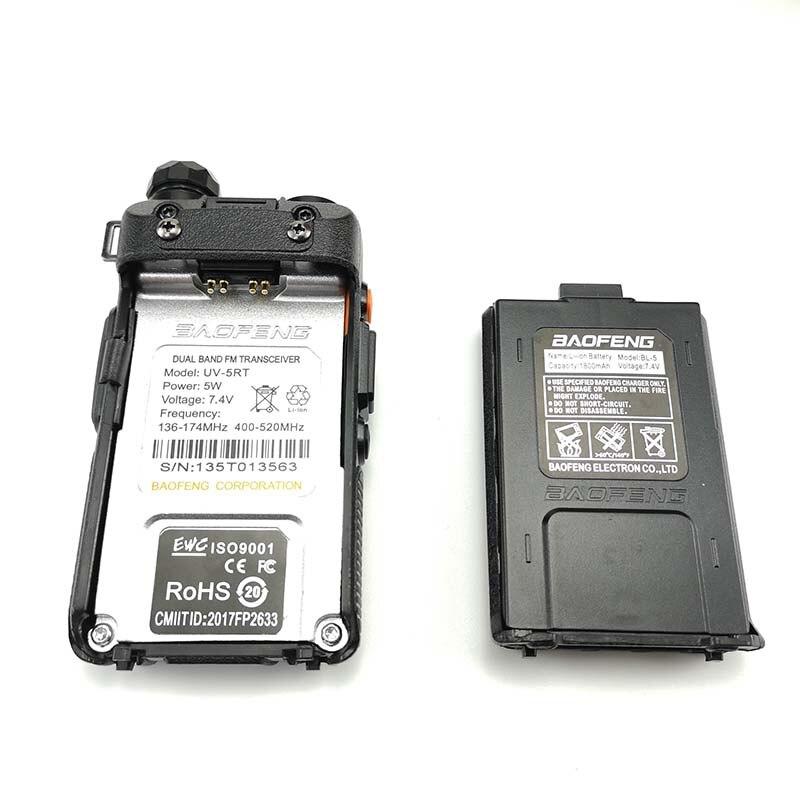 2pcs Baofeng UV-5RT Walkie Talkie VHF UHF 2 Way Radio Portable Ham Radio Amateur Hf Transceiver UV-5R Plus Handheld Talki Walki enlarge
