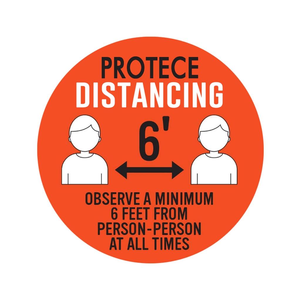 Decal Sign  Crowd Control Guidance Social Distancing Floor Sticker Indoor Outdoor Ground Sticker Safety Floor