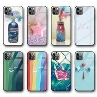ciciber fashion vogue funda case for iphone 12 case for iphone 12 11 pro xs max mini xr x 7 8 6 6s plus se 2020 glass shell case