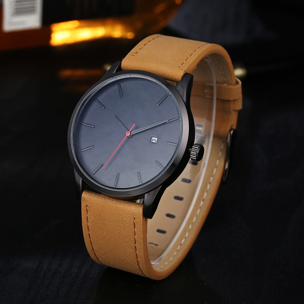 Watches For Men Luxury Leather Strap Sport Watch Men's Quartz Wristwatch Stainless Steel Waterproof Date Clock Relogio Masculino wlisth fashion men s watches steel strap watch for men waterproof watches quartz wristwatch date male watch clock for men