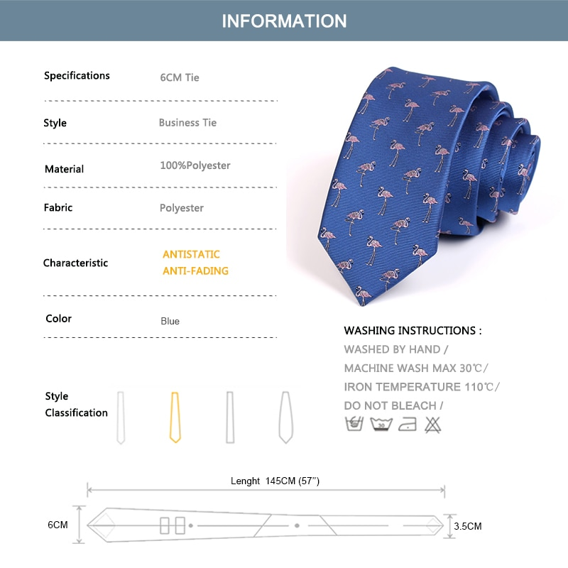 Brand New Animal Print Ties High Quality Blue 6CM Tie For Men Business Suit Work Neck Tie Fashion Formal Necktie With Gift Box