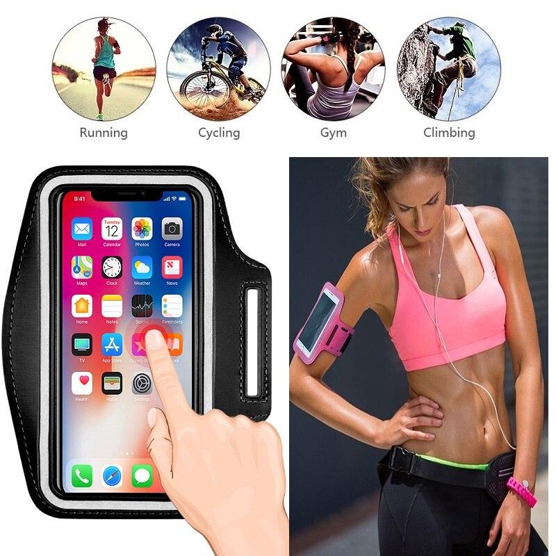 Bolso del teléfono móvil caso para correr pulsera titular para iPhone XR X XS X 11 Pro Max 4 4s 5s 5 SE 2 2020 6 6s 7 7 8 Plus caso bolsa de deporte