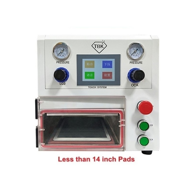 LY-TBK 108P تحكم تعمل باللمس OCA التصفيح آلة 14 بوصة ل الدهون منحني اللوحي سادة LCD شاشات