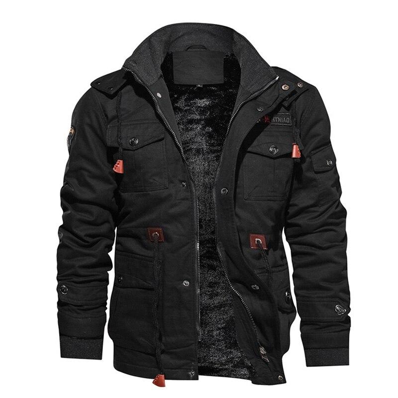 Утепленная Мужская Флисовая куртка в стиле милитари, зимняя повседневная куртка с капюшоном, хлопковая куртка, ветровка, парка, пальто для м...