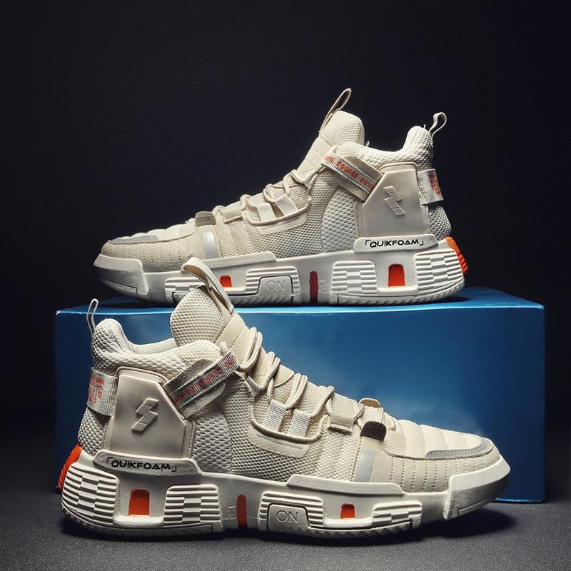 2020 malla moda hombres Casual Zapatos Zapatillas de deporte de alta calidad ligero entrenadores zapatos de alta calidad hombre transpirable zapatos planos B537