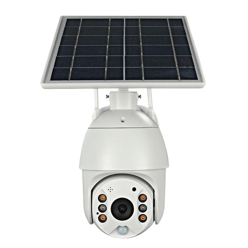 كاميرا مراقبة كروية تعمل بالطاقة الشمسية 1080P عالية الوضوح 4G ماكينة مراقبة شبكة لاسلكية تعمل بالواي فاي