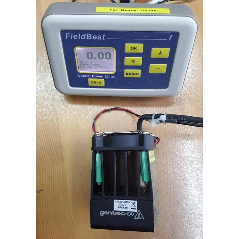 Medidor de Potência Medidor de Energia Resolução de Alta Precisão com a Marca Wishcolor Óptica Testador Laser 0.01w Sonda 10mw-100w