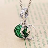 hot s925 sterling silver new mermaid pendant ariel string pendant beads diy bracelet jewelry women