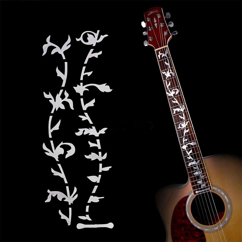 Pegatinas para Guitarra acústica eléctrica con incrustaciones, diapasón ultrafino, Guitarra, parte de Guitarra, cuerdas, accesorios para instrumentos