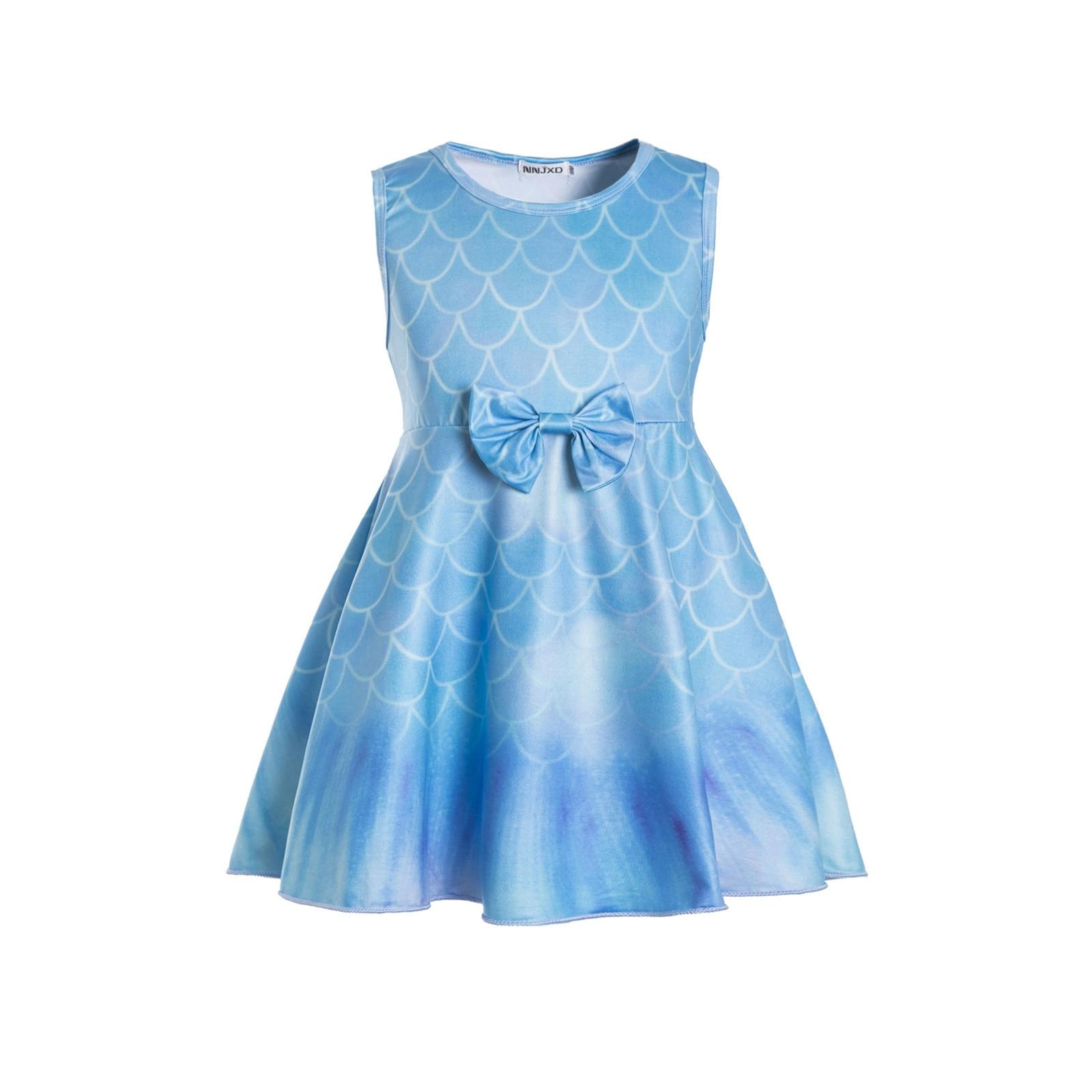 Vestido de princesa sin mangas para niña, falda de gasa hinchada, verano,...