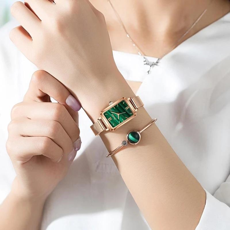 SUNKTA 2021 New Luxury Brand Japan Quartz High Quality Waterproof Ladies Watch Women Stainless Steel Mesh Rose Gold Gift Clock enlarge