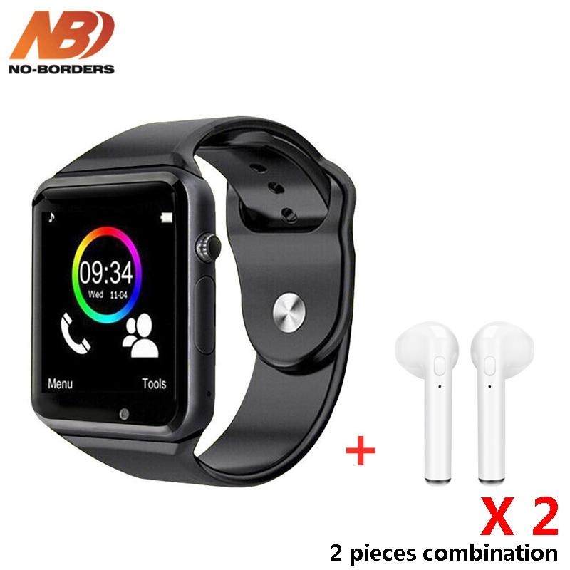 2 шт. умные часы A1 наручные часы Bluetooth Смарт часы с подарком Bluetooth наушники для Android PK DZ09 часы