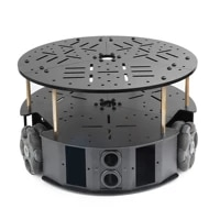 58mm omni wheel robot chassis smart car chassis unassembled electronic version w ps2 controller sr09