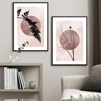 straw silhouette poster wall art canvas painting nordic fern posters and prints decor picture modern living room home decoration