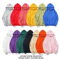 high quality pure cotton sweater for men and women trendy solid color pullover loose and comfortable long sleeved hoodie women