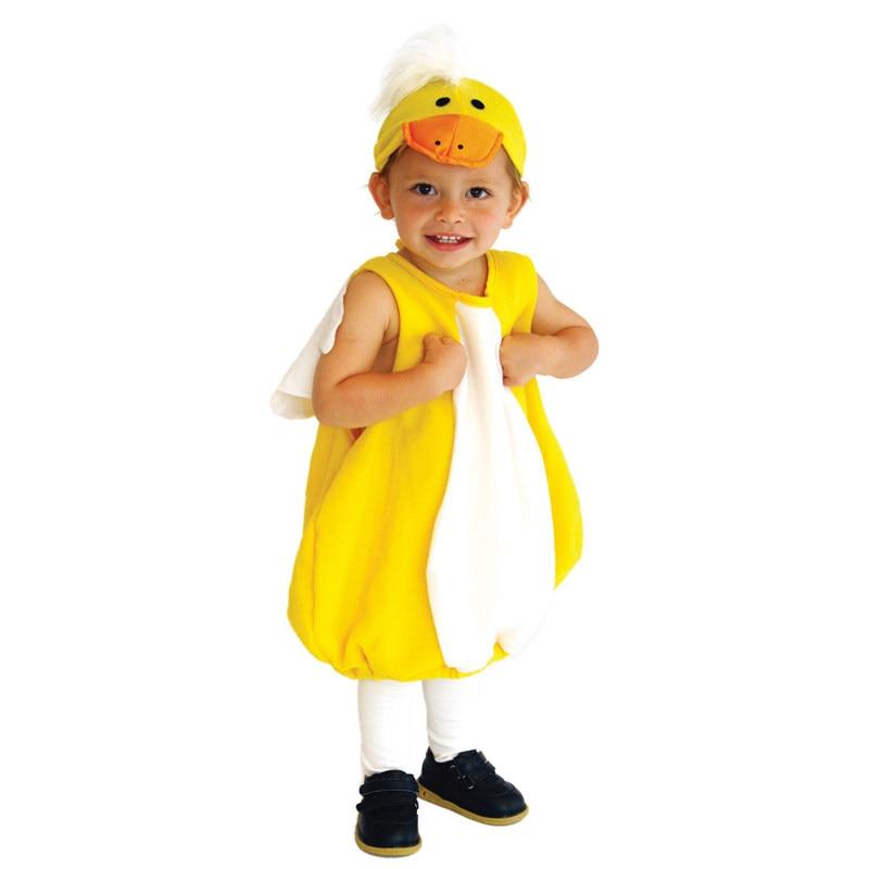 زي بطة صفراء للأطفال الصغار ، زي الهالوين ، ليلة رأس السنة ، كرنفال