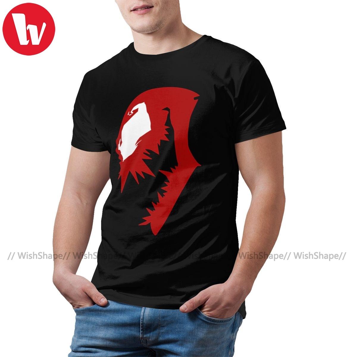 Camiseta de toxina con estampado de Carnage, camiseta de manga corta para hombre, ropa de calle divertida, 100 de algodón, camiseta 5xl