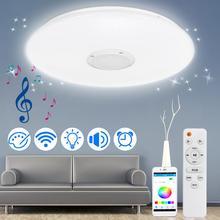 Luces de techo LED RGB modernas, lámpara de techo inteligente con Control remoto, 120W, aplicación de homeelighting, bluetooth, música, para dormitorio, 220V