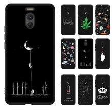Antichoc coque en silicone Pour Meizu Note 9 8 16th 16X X8 M5C M6 M5S M5 M6 Note 16 Plus Étoilé noir peint coque de téléphone