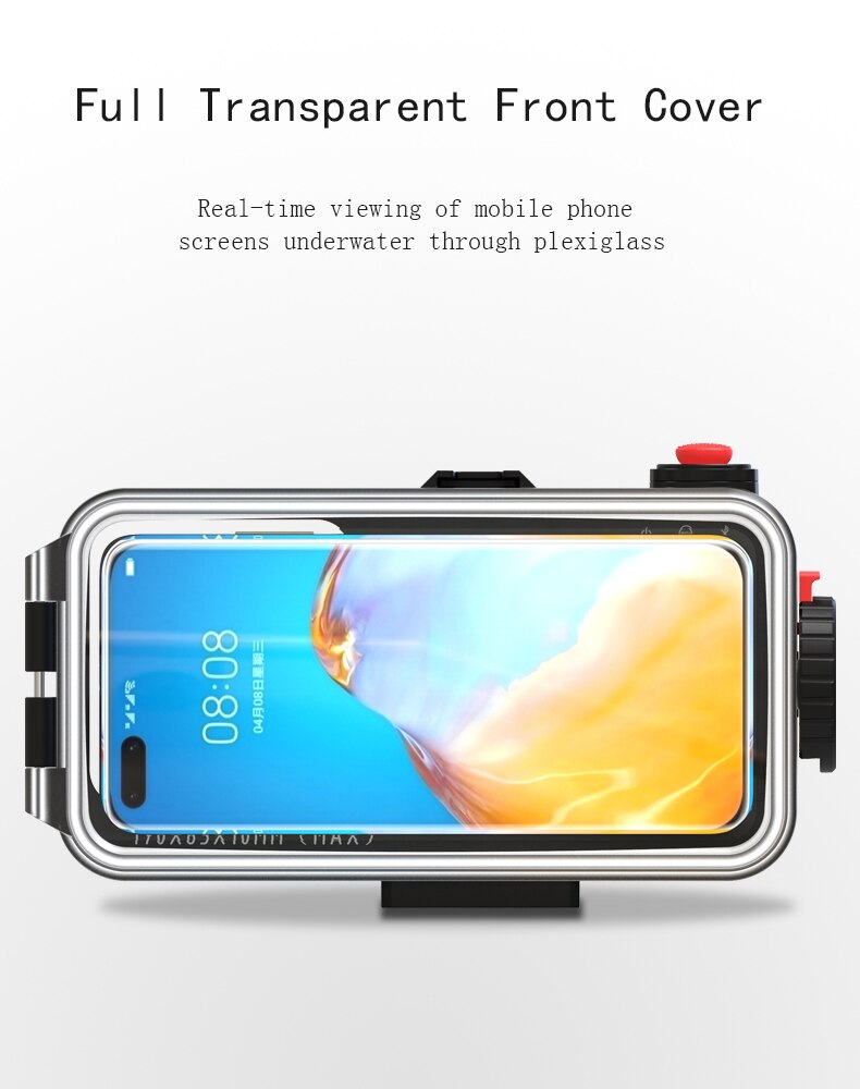 for Iphone 12/Huawei Mate 40 Pro/Xiaomi 9 Bluetooth Universal Mobile Phone Waterproof Case Housing Underwater Diving