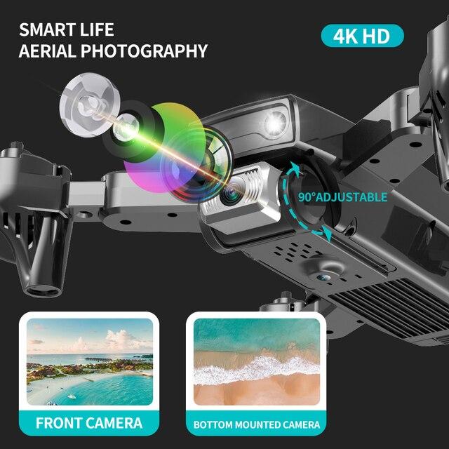 SHRC S173 Mini Drone With Camera 4K HD Professional Wide Angle Selfie WIFI FPV VS RC Quadcopter S167 Dron GPS 2