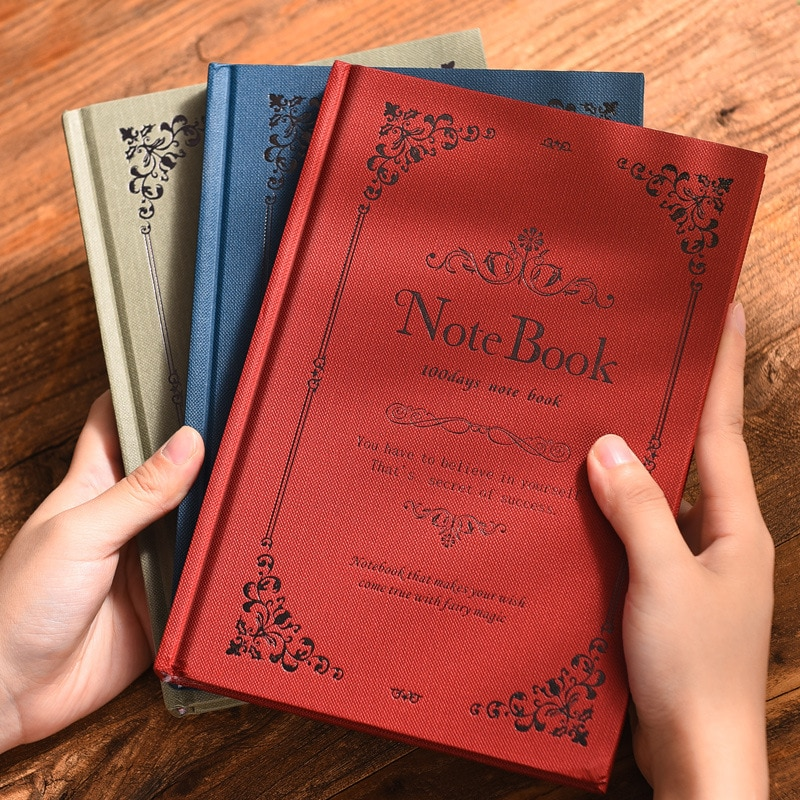 European style notebook literary exquisite simple retro style A5 creative net red college student classroom reading notebook