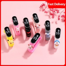 Children's creative cute doll LED digital watch silica gel watch for primary and middle school stude