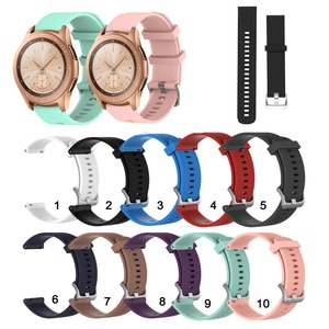 20mm Soft Silicone Strap Band for Samsung Galaxy Watch 42mm for Samsung Active 2 / Gear Sport Watchband