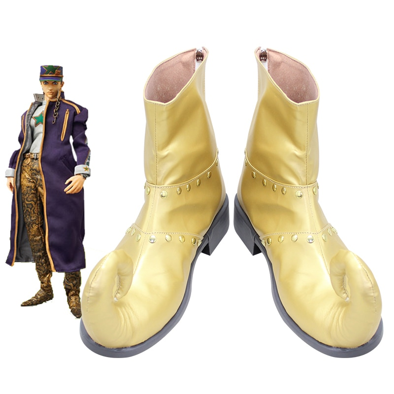 JoJo es extraño aventura sexta parte 6 piedra océano Dio Brando Anime Manga juego Cosplay zapatos botas X002