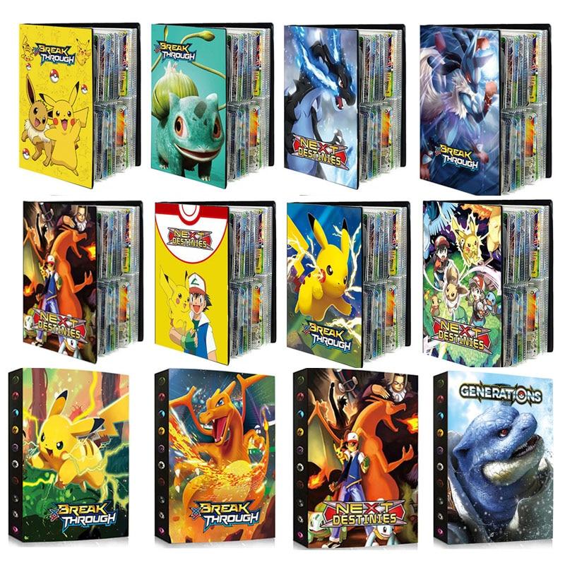 2021-Новый-Покемон-карты-фотоальбом-книги-с-рисованным-Аниме-Новый-240-шт-карточная-игра-vmax-gx-усилительный-насос-ex-держатель-коллекция-папка-к