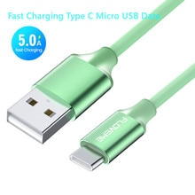 5A 1m Micro USB Type C Cable For Android Mobile Phone Charger Fast Charging Micro Usb Data Cord Char