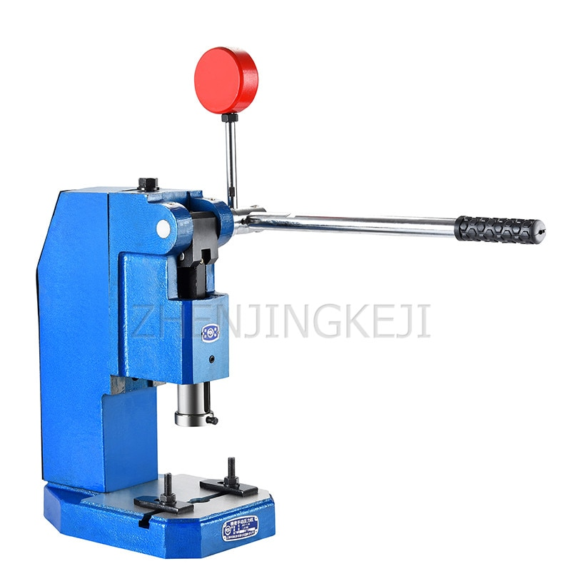 small desktop press machine manual hand crank disc printing punch crimping riveting precision punching machine processing tools Small Manual Press Industrial Desktop Manual Punch Punching Hand Wrench Beer Machine Electronic Hardware Zipper Industry Tool