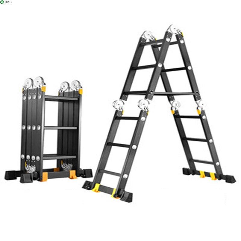 Фото - Многофункциональная Прямая Лестница 2,5 м, складная лестница, алюминиевая лестница для дома, подъемная лестница, прямая лестница, инженерная... лестница