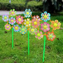 2Pcs Kids Flower Windmill Toys Wind Spinner Pinwheels Home Garden Yard Decor Kids Toys