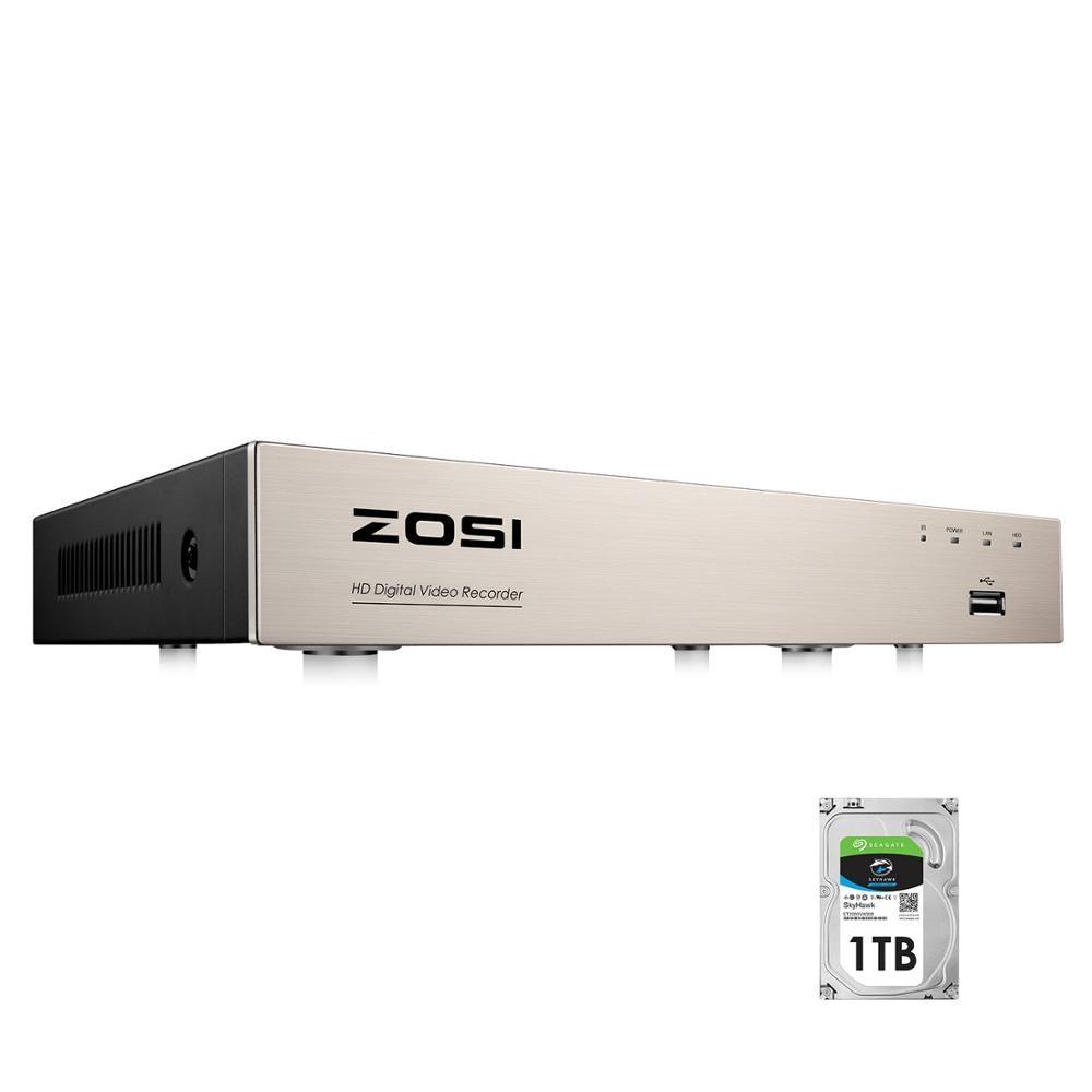 ZOSI-caméra DVR 8 canaux h 265 + TVI   4-en-1, 1080N/720p, sécurité DVR, 8CH, Mini caméra DVR hybride HDMI hybride, prise en charge analogique/AHD/TVI/CVI