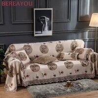 embroidery sofa cover for living room deco soft sofa cushion couch cover korean minimalist corner sofa towel european cubre sofa