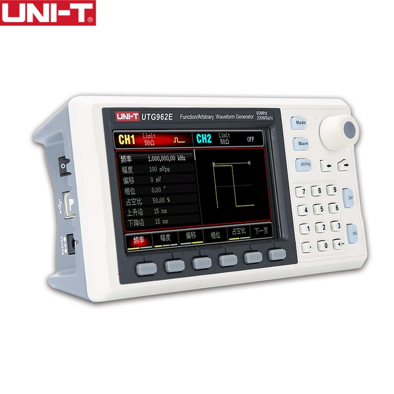 UNI-T Adjustable Dual-channel 200MS/s Signal Generator 14bits High Precision Digital Meter 30MHz/60MHz UTG932E UTG962E