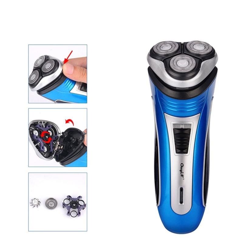 Rechargeable Electric Shaver 3D Triple Floating Blade Heads Razors Face Care Men Beard Trimmer Sideburn Shaving Machine enlarge