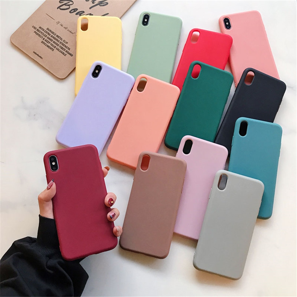 Candy Matte Soft TPU Silicone Case Cover For Xiaomi Mi 8 9 9T A3 A2 A1 Lite Redmi Note 5 Plus 6 7 7A