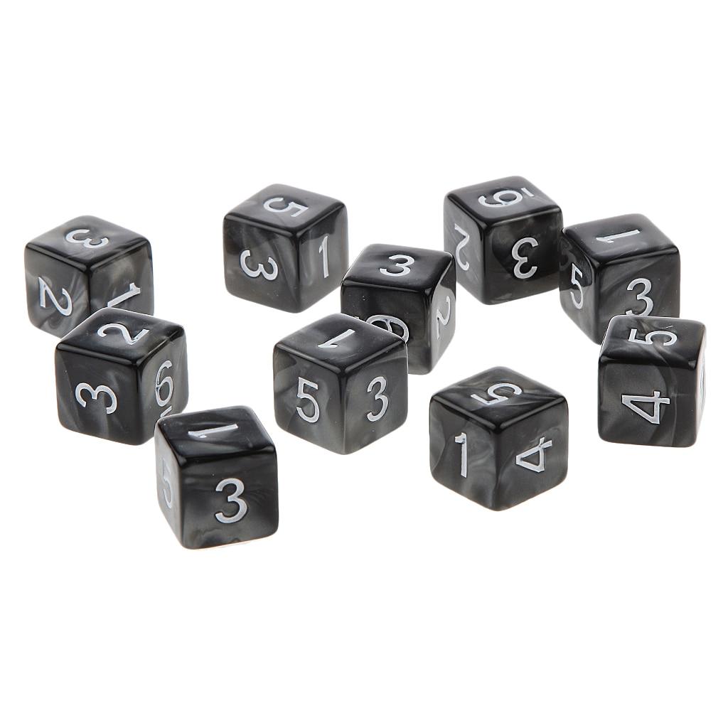 10 pçs multi-face d6 d10 d12 d20 dragões de dados d & d trpg jogos de tabuleiro de festa brinquedos