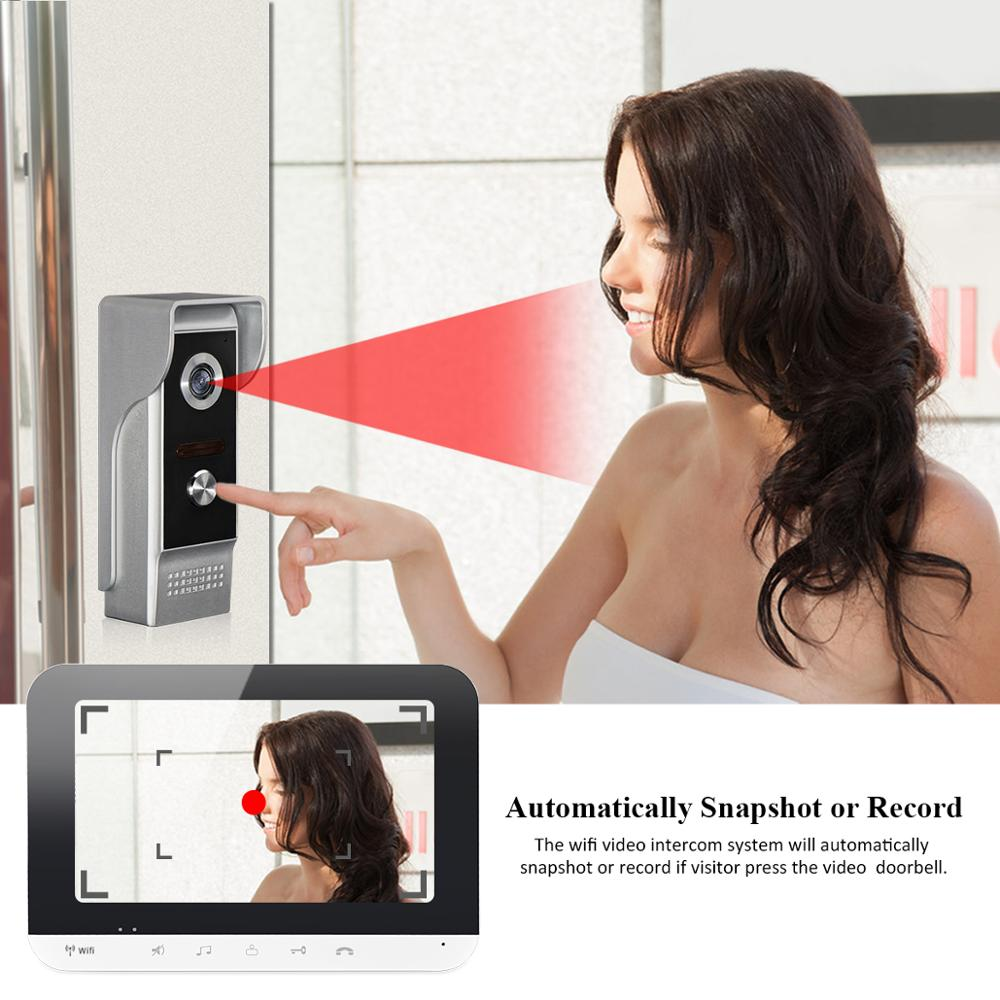 New Smart Wifi 7 Inch Video Intercom Doorbell System IOS/Android Mobile Phone App Remote Unlock Access Control For Home Security enlarge