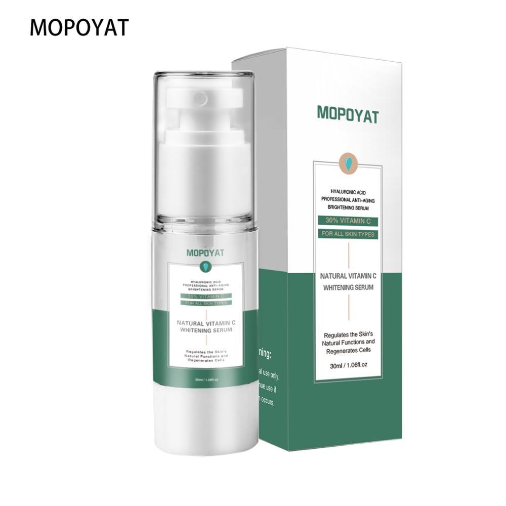 MOPOYAT Arbutin Hyaluronic Acid Face Serum Anti-Aging Shrink Pore Whitening Moisturizing Essence Face Cream Dry Skin Care 30ml недорого