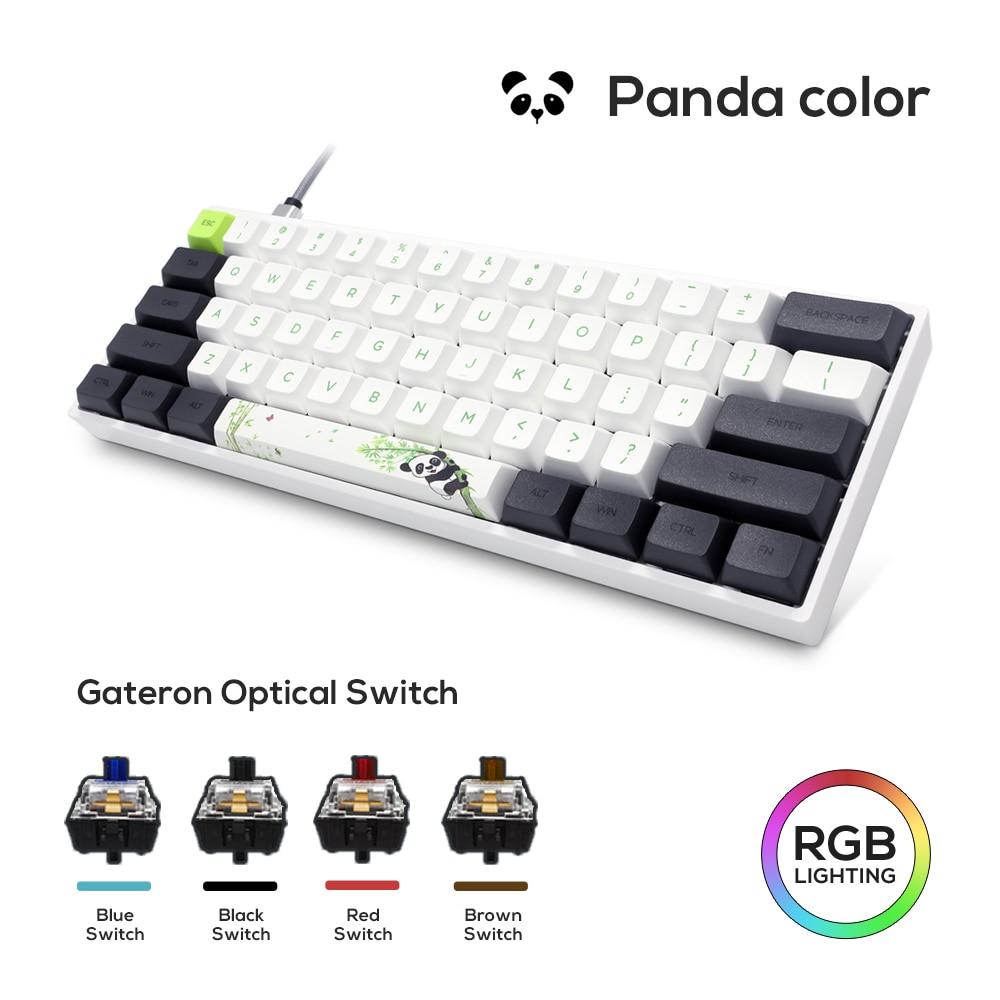 SK61 GK61 Mechanical Keyboard  Russian PBT Keycap USB Wired Gateron Optical Switch Axis RGB Gaming PC Desktop Laptop Gamer akko 3084 v2 ocean star 84 key mechanical game keyboard pbt keycap usb 2 0 type c wired side letter caverd design gaming keyboard pink shaft