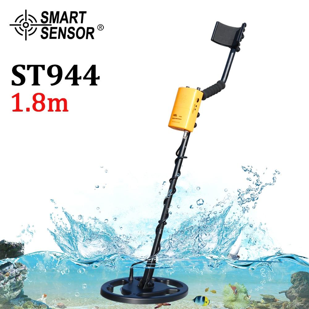 Metal Detector UnderGround depth 1.8m Coil Waterproof Scanner Finder Tool 1200mAh Battery Gold Digger Treasure Seeking Hunter